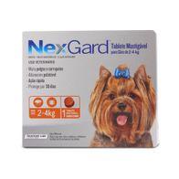 Antipulgas-e-Carrapatos-Nexgard-05g-Merial-p--Caes-de-2-a-4kg---1-Tablete-Mastigavel