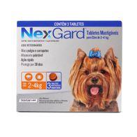 Antipulgas--e-Carrapatos-Nexgard-05g-Merial-p--Caes-de-2-a-4kg---3-Tabletes-Mastigaveis