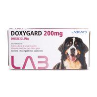 Antimicrobiano-Doxygard-Labgard-200mg-p--Caes-e-Gatos-c-12-Comprimidos