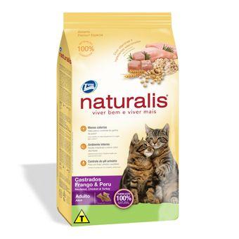 Racao-Naturalis-Gatos-Adultos-Castrados-Frango---Peru-Total-3kg