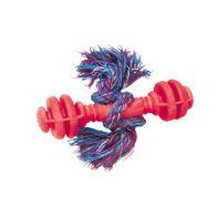 Brinquedo-Halteres-Macico-de-Borracha-com-Corda-Furacao-Pet---Vermelho