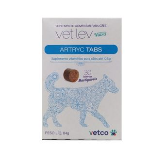 Suplemento-Alimentar-Artryc-Tabs-Para-Caes-ate-10kg-Com-30-Tabletes-7898675440107-1