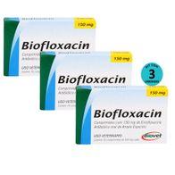 Kit-3-Biofloxacin-Biovet-150mg-C-10-Comprimidos