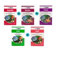 Kit-Labcon-Aqualife---Bacter-com-10-capsulas---Clean---Ictio---Sani