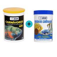 Kit-Alcon-Ciclideos-Granulos-130g---Alcon-Carnivoros-300g